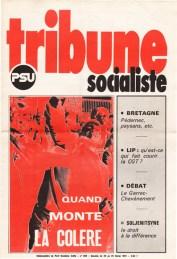Couverture Tribune Socialiste N°608 semaine du 20 au 26 Février 1974