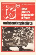 Préparation du 9ème congrès Tribune Socialiste N° 632, 1er Novembre 1974