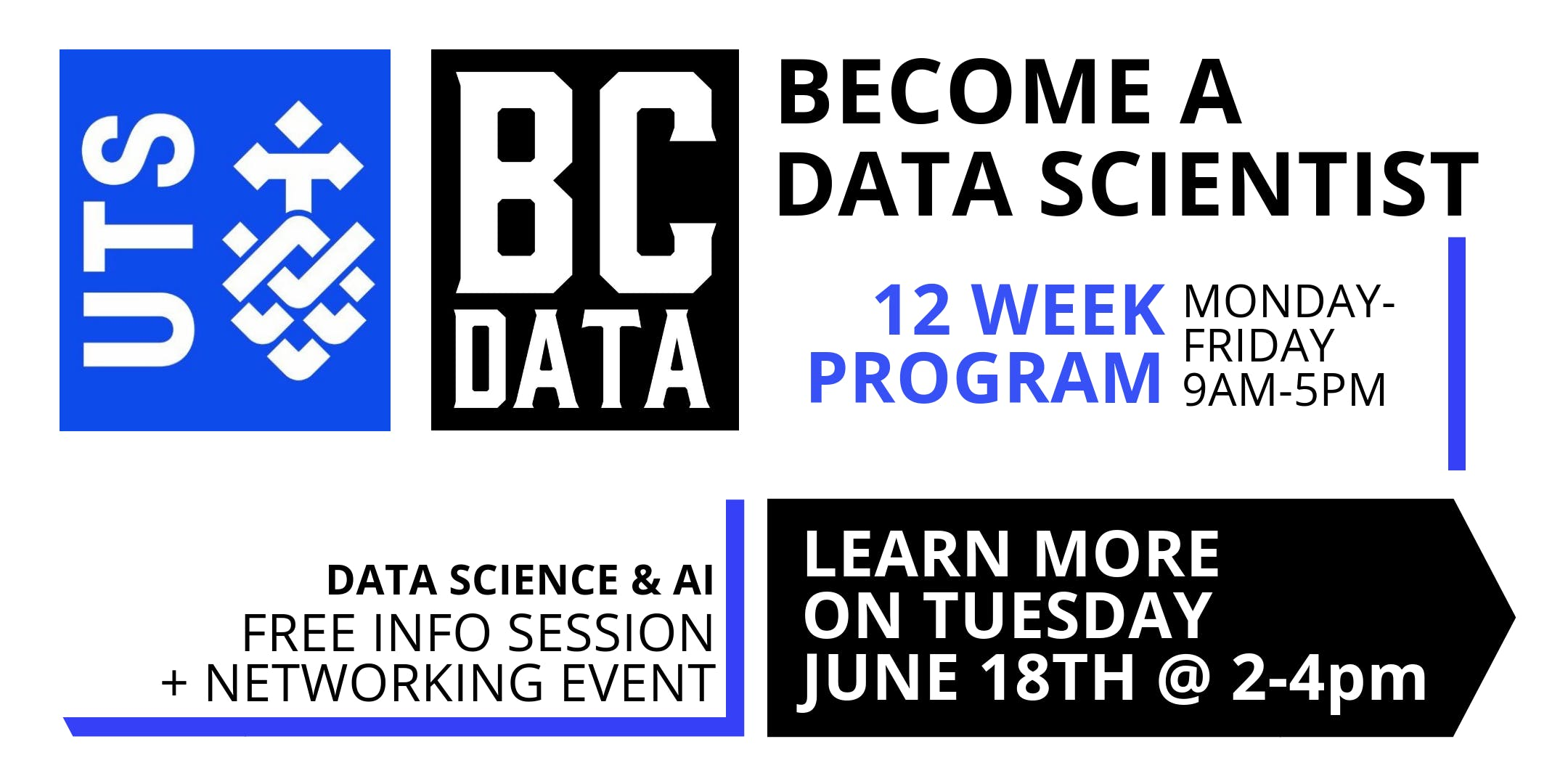 UTS Data Science & AI 12-week Program – Launch & Info Session