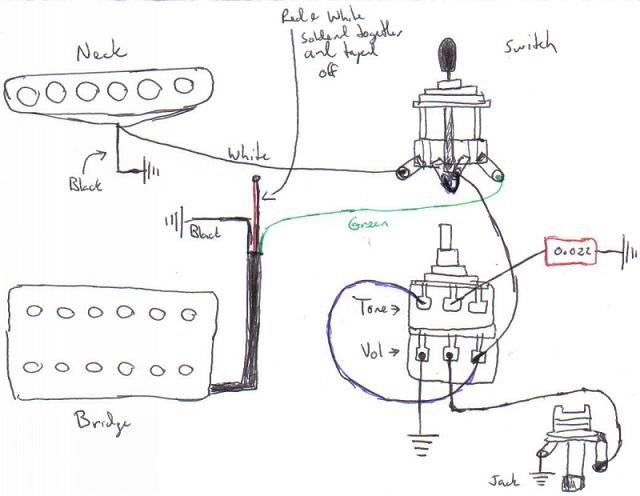 wiring diagram for squier telecaster  pickup wiring help