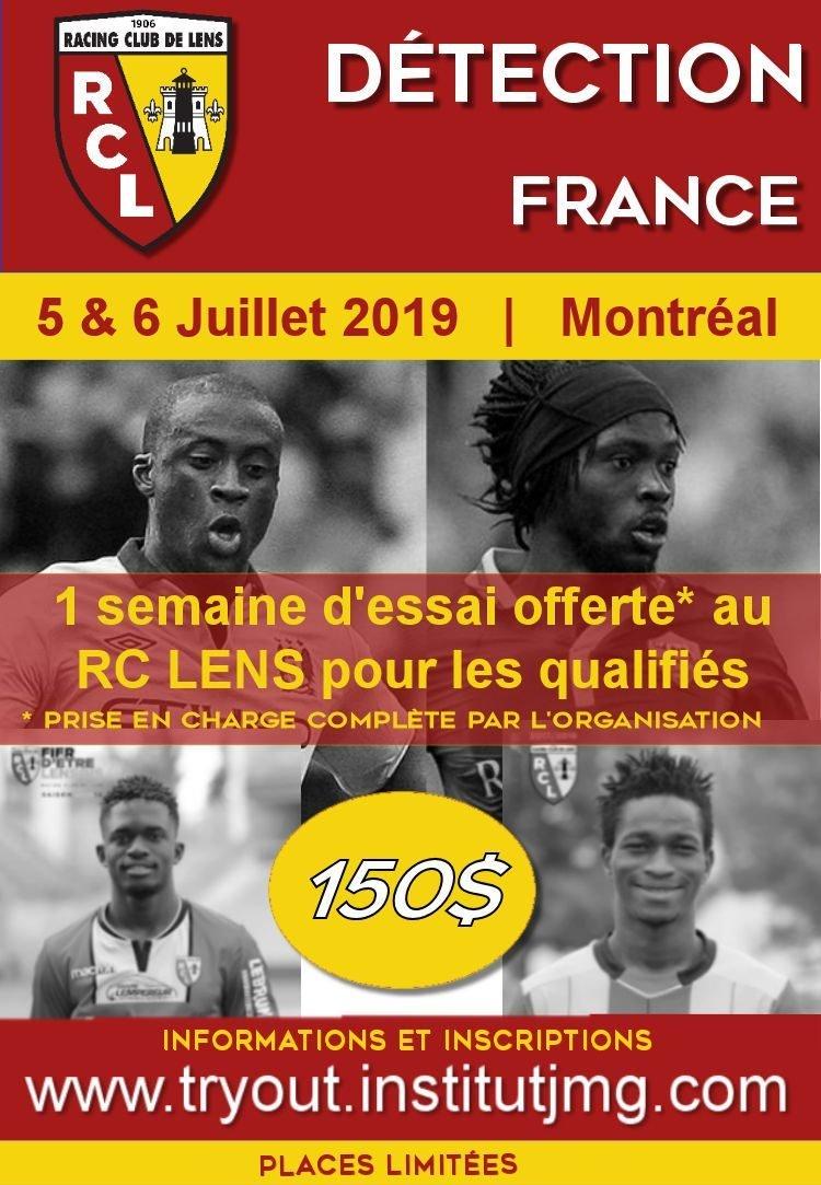 Flyer Institut JMG 5et 6 juillet Try Out RC Lens Montreal