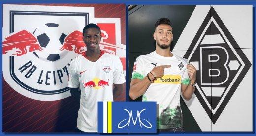 JMG soccer Amadou Haidara Leipzig vs Bensebaini Monchengladbach large