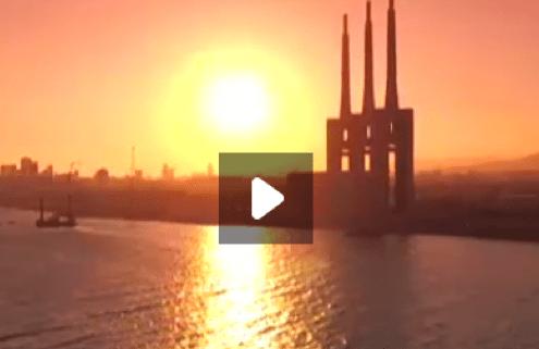 el dron de l'Espai Terra de TV3 viatja al Besòs