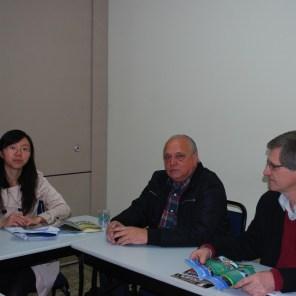 Reunião com Sr. Nelson costa da OCEPAR: Jéssica, Luiz Antonio e Nelson Costa