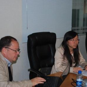 Reunião com Sr Daniel Dias e Anselmo Silva da COONAGRO (Daniel, Jéssica, Luiz Antonio e Anselmo)
