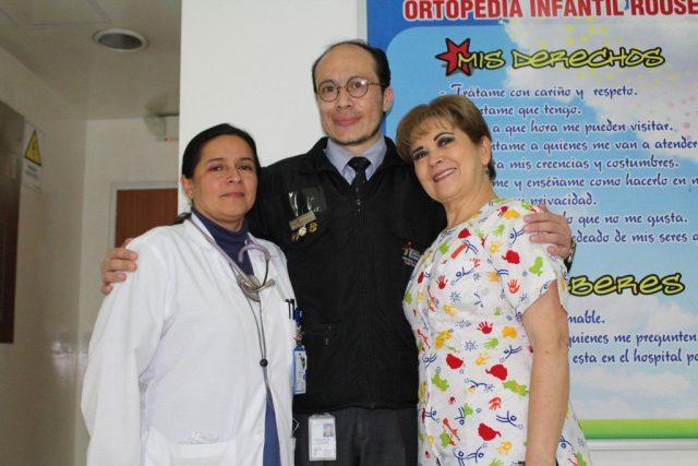 De izquierda a derecha: Gloria Castillo, Carlos Reyes y Epifania Vega.