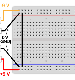 to the circuit we don t want our circuit connected in any way to ac power from the wall the diagram below illustrates how to connect the batteries in  [ 10146 x 4961 Pixel ]
