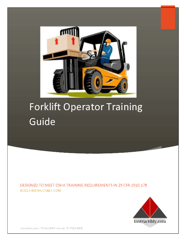 Forklift Certification Training  Instructiblycom