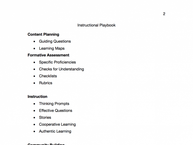 Instructional Playbook by Instructional Coaching