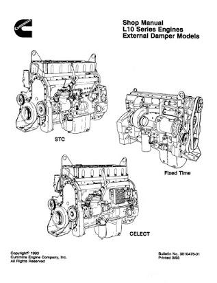 Cummins ISB CM2100 Engine Workshop Service Manual for