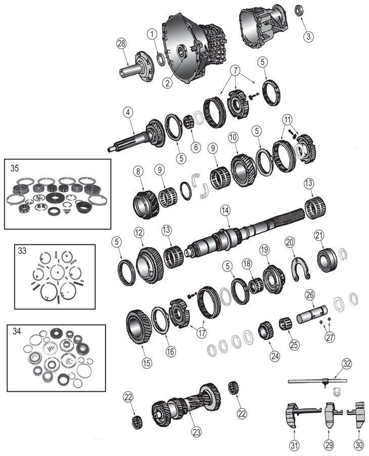 Jeep Wrangler NV3550 manual gearbox repair manual download