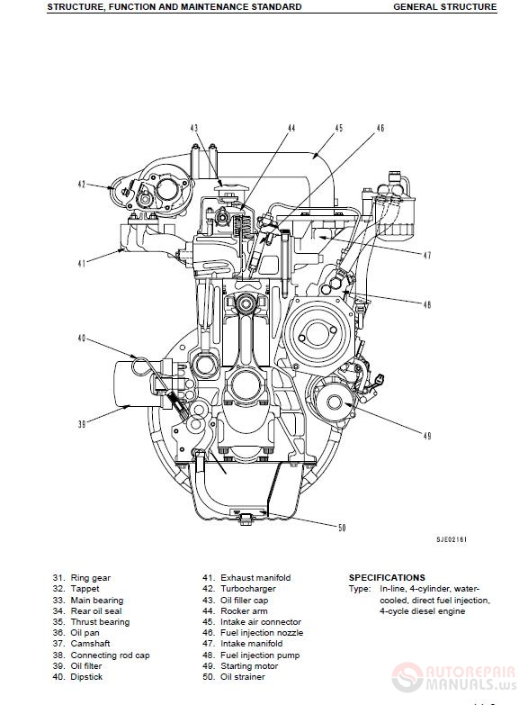 KOMATSU 95 Series Diesel Engine Service Repair Manual