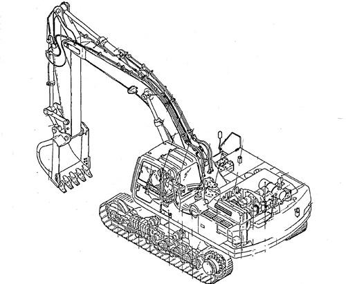Kobelco SK100, SK120, SK120LC Crawler Excavator Service
