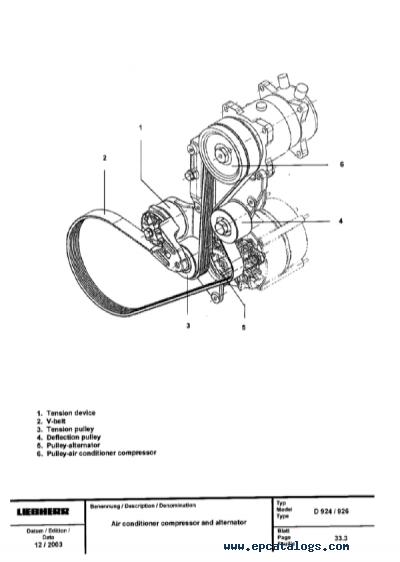 LIEBHERR Diesel EngineS D9306 D9308 D9406 D9408 Service