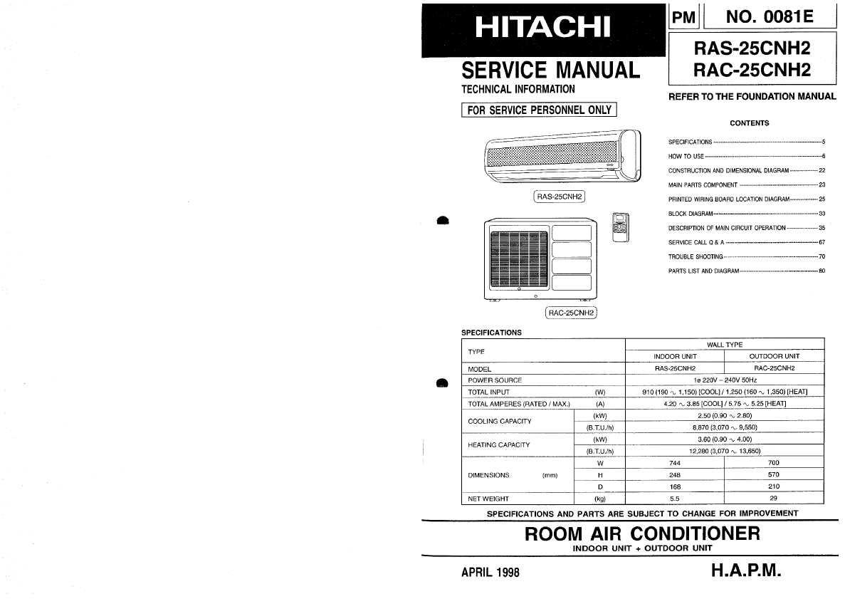 Hitachi Ras 25cnh2
