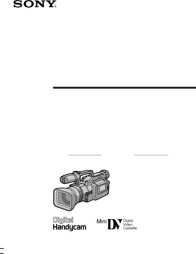 Instrukcja obsługi Sony DCR-VX1000 (88 stron)