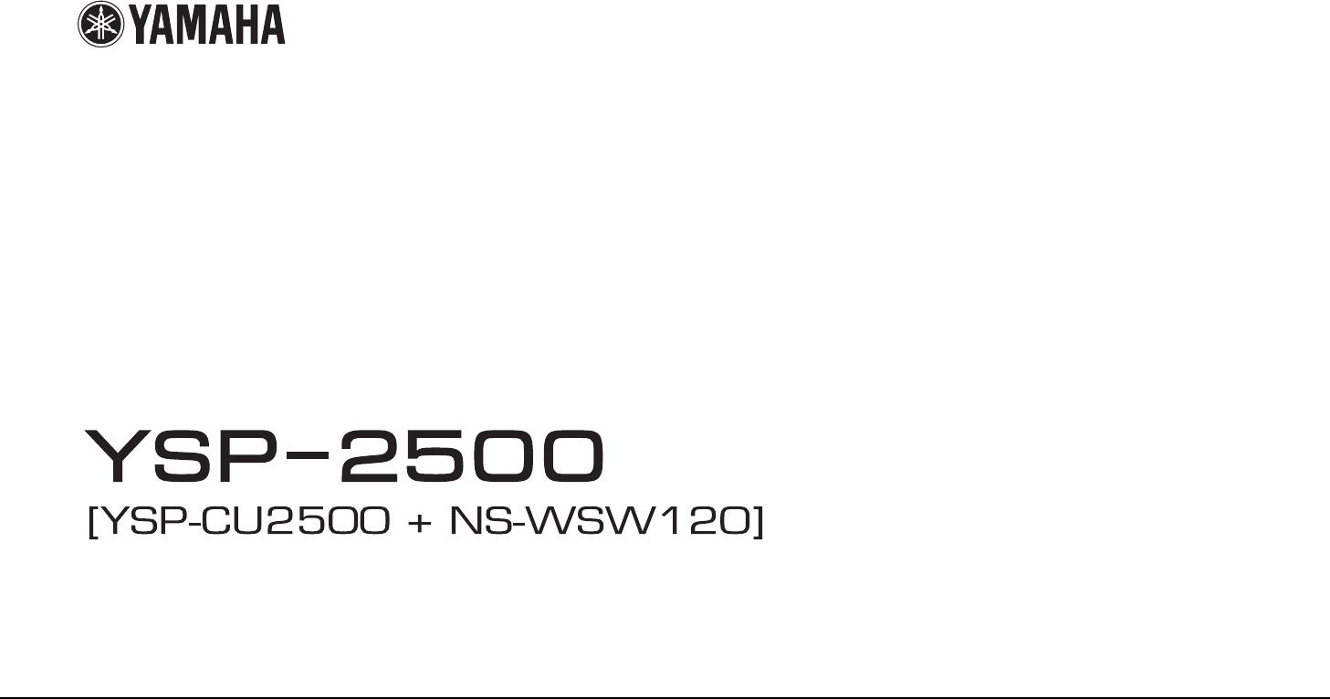 Instrukcja obsługi Yamaha YSP-2500 (83 stron)