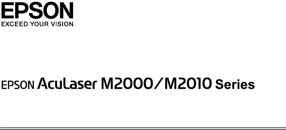 Instrukcja obsługi Epson AcuLaser M2000 (169 stron)