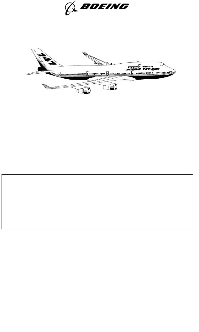 Instrukcja obsługi Boeing 747-441 (2000) (964 stron)