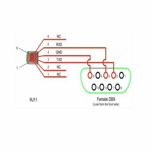 small resolution of diagram rj11 to rs232