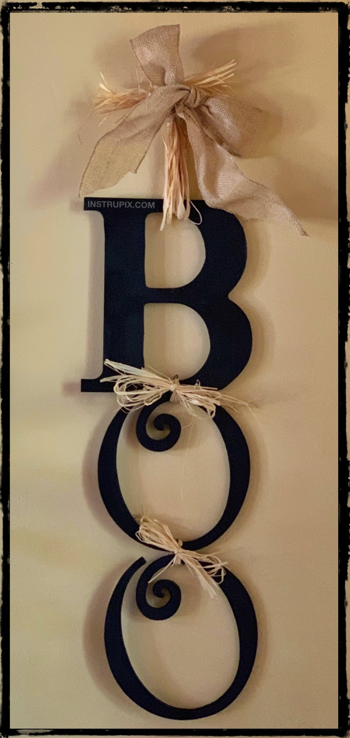 Diy Boo Sign Easy Halloween Decor Idea Perfect For The Porch Or Inside