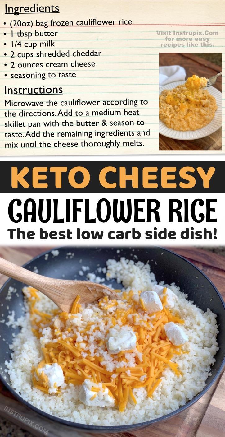 easy cheesy cauliflower rice instrupix