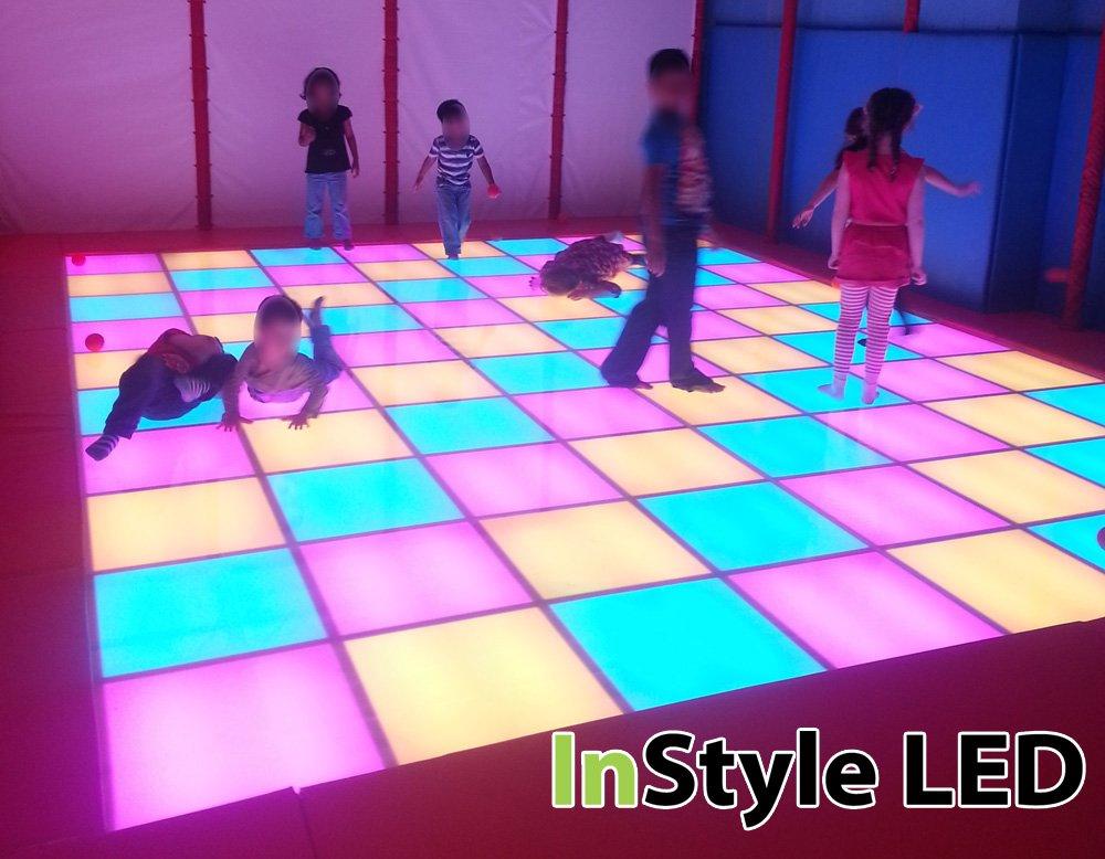 childrens play kitchen slate backsplash in children's led dance floor - rgb lights change time ...
