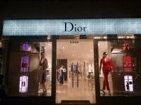 Dior Christmas shop window display using 19.2w LED Tape