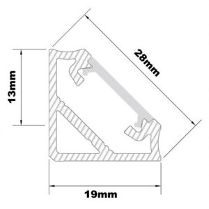 Corner Extrusion for LED Tape