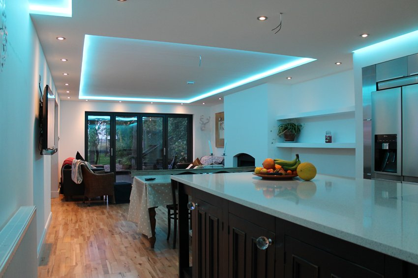 best recessed lighting for living room decor modern how to position your led strip lights