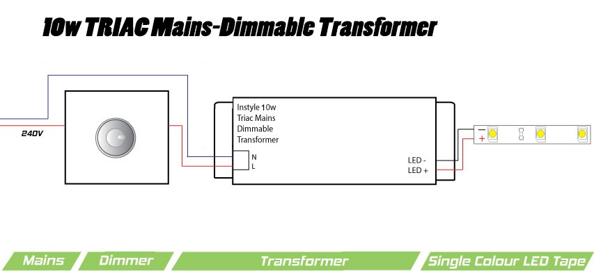 10v Dimmer Circuit Diagram 10w Triac Dimmable Transformer