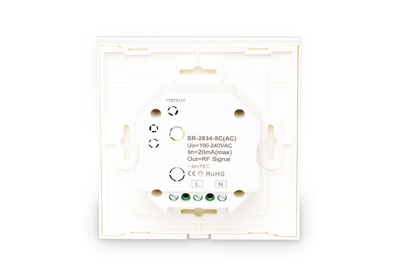 Wall-Mounted Controller for 5-Colour LEDs (Dual-White + RGB)