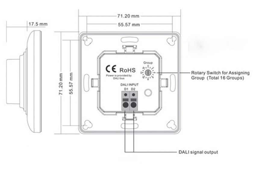 wiring diagram for led tube lights leviton 3 way motion switch dali wall-mounted dimmer instyle strip