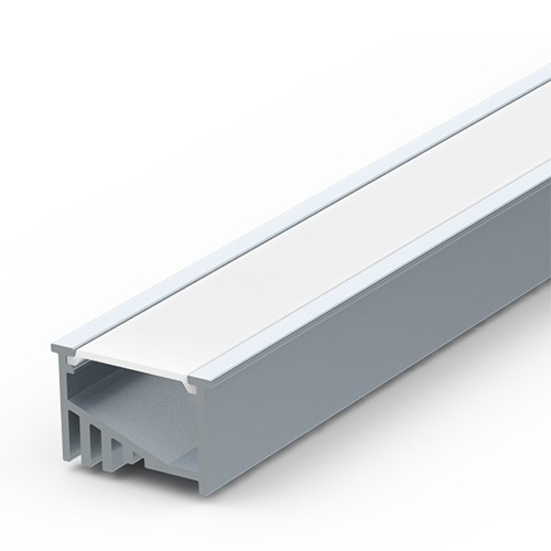 recessed angle extrusion for led tape