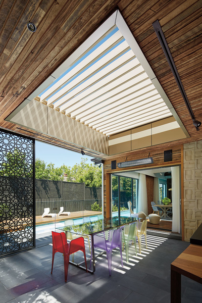 In Style Patios and Decks  Sunroof Opening Roof Patio
