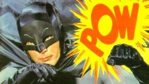 Adam West che interpreta Batman