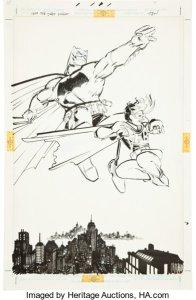 L'originale di una iconica splash page del Cavaliere Oscuro di Miller, venduto all'asta sempre da Heritage nel 2011 per oltre 448.000 dollari