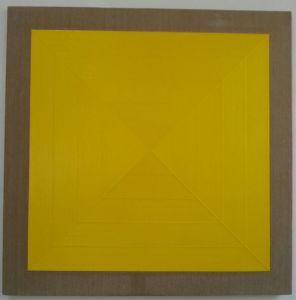 Diagonale 10, 1974, acrilico stratificato su tela, 120x120cm