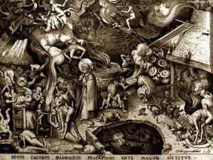 Saint Jacques et le magicien Hermogènes: Van Der Heyden, Pieter (1530?-1576?) Graveur, Bruegel, Pieter (1525?-1569). Dessinateur du modèle, 1565 (Bibliothèque Nationale de France)