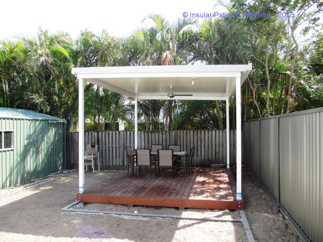 Free Standing Patio  Solarspan Roofing With Wire Balustrade by Insular P  F