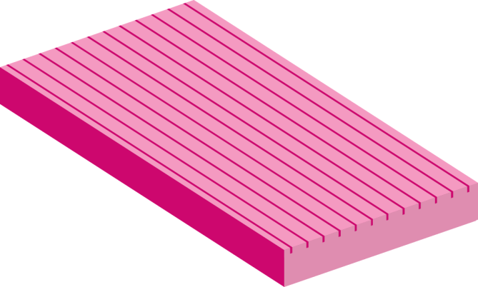 Ribbed custom insulation board