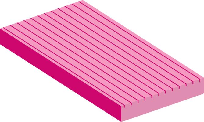 Ribbed custom insulation board