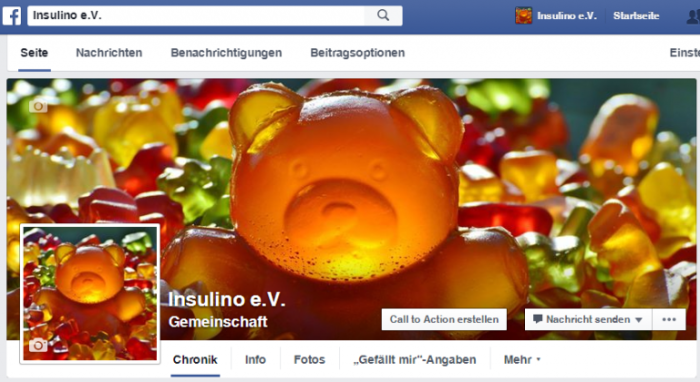 Hier findest Du den Insulino e.V. auf Facebook...