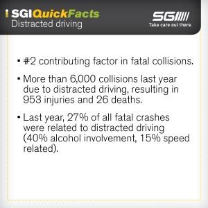 SGI Distracted Driving Quick Facts