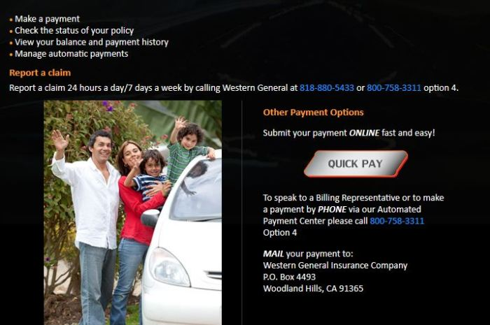 Western General Insurance Login To Make a Payment