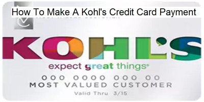 How To Make A Kohl's Credit Card Payment