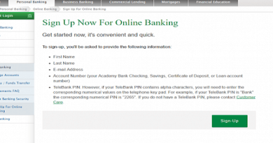 Academy Bank Login process