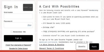 Lane Bryant Credit Card Login | Lane Bryant Credit Card Payment