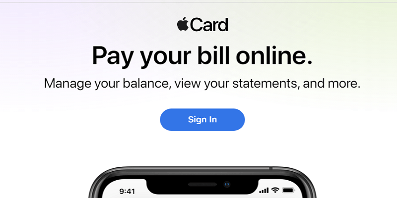 Apple Credit Card Login