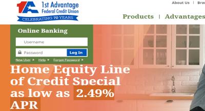 1st Advantage Federal Credit Union Login |  Payments & eServices